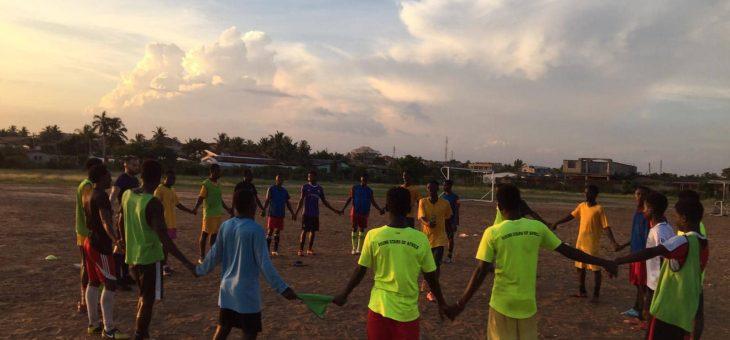 Reiki numa Academia de Futebol em Africa